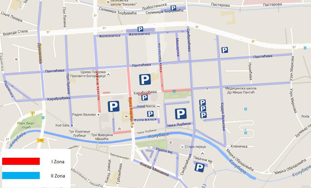 Vodic Parking Servisa Valjevo