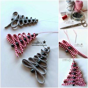Diy Ribbon Bead Christmas Tree Ornaments Beesdiy - Best Resume Collection