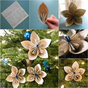 Creative Ideas Diy Vintage Origami Kusudama Christmas Ornaments - Best Resume Collection