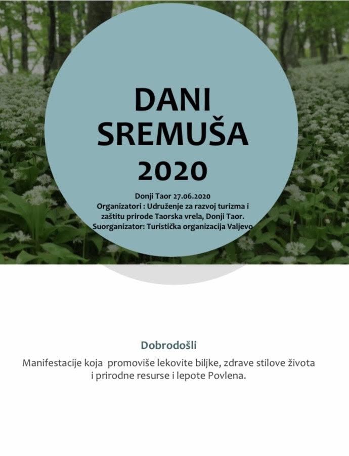 """""""Dani sremuša 2020"""""""